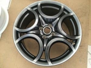 Verniciatura cerchio Alfa Giulietta Brimetal scuro