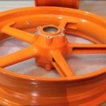 Verniciatura Cerchi Moto Arancione Repsol