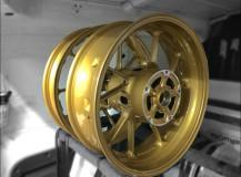 Verniciatura cerchi Moto Oro